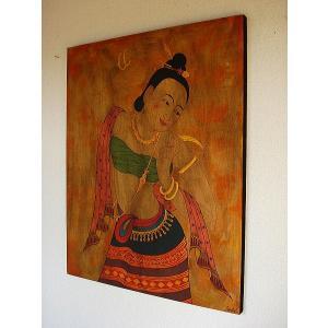 アジアンアート アジアンインテリア タイ人物画 100×80 絵画|store-monsoon