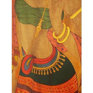 アジアンアート アジアンインテリア タイ人物画 100×80 絵画|store-monsoon|03