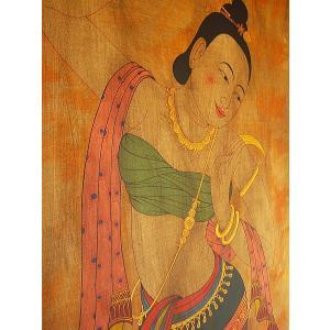 アジアンアート アジアンインテリア タイ人物画 100×80 絵画|store-monsoon|04