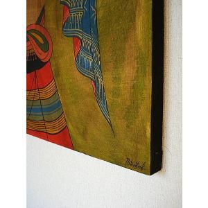 アジアンアート アジアンインテリア タイ人物画 100×80 絵画|store-monsoon|05