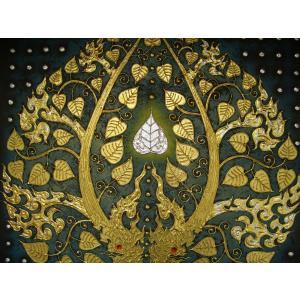 アジアンアート ペイントアートフレーム 100×100 タイオリエンタルモダン 絵画 壁飾り|store-monsoon|03