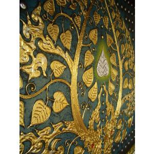 アジアンアート ペイントアートフレーム 100×100 タイオリエンタルモダン 絵画 壁飾り|store-monsoon|04