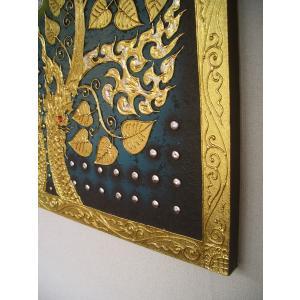 アジアンアート ペイントアートフレーム 100×100 タイオリエンタルモダン 絵画 壁飾り|store-monsoon|05