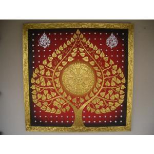 アジアンアート ペイントアートフレーム 100×100 タイオリエンタルモダン 絵画 壁飾り|store-monsoon|02