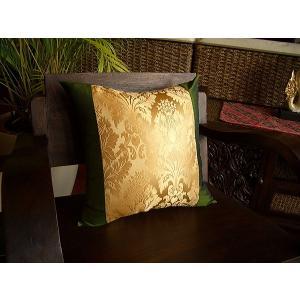 クッションカバー タイシルク  アジアン雑貨  アジアンインテリア アラベスク柄 |store-monsoon
