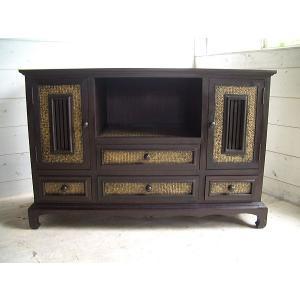 アジアン家具 TVボード キャビネット サイドボード 収納家具 オリエンタル  W120|store-monsoon