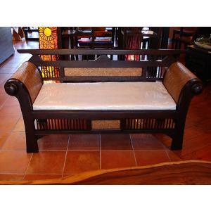 木製ソファ アジアン家具 ベンチソファ  レトロ調木製ソファー アンティーク オリエンタル |store-monsoon|04