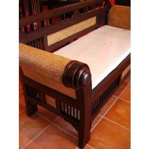 木製ソファ アジアン家具 ベンチソファ  レトロ調木製ソファー アンティーク オリエンタル |store-monsoon|05