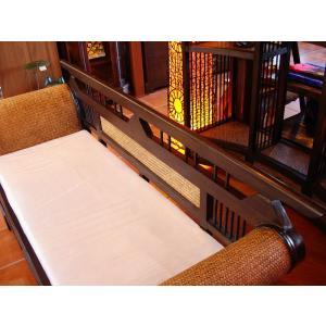 木製ソファ アジアン家具 ベンチソファ  レトロ調木製ソファー アンティーク オリエンタル |store-monsoon|06