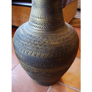 アジアンオブジェ  タイ  壺  H64 陶器 焼き物 花器 花瓶 ツボ 玄関 インテリア|store-monsoon|03