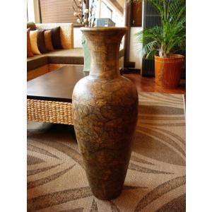 アジアンオブジェ 【タイ ・ ジャー(壺) H80 】陶器 焼き物 花器 花瓶 オリエンタル エスニック|store-monsoon