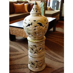 アジアンインテリア アジアンオブジェ  タイオブジェ 灯篭 陶器 焼き物 |store-monsoon