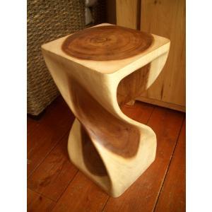 ツイスト スツール アジアン家具  チェア 椅子 サイドテーブル 花台 オブジェ|store-monsoon