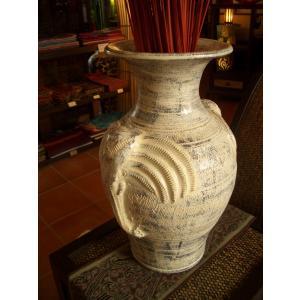 アジアンインテリア アジアンオブジェ エスニックインテリア 【タイ ・ ジャー(壺)】陶器 焼き物 花瓶 ツボ|store-monsoon