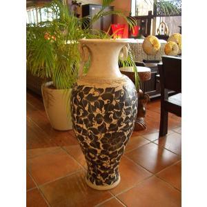 アジアンインテリア アジアンオブジェ  【タイ ・ ジャー(壺) H77】陶器 焼き物 花器 花瓶|store-monsoon