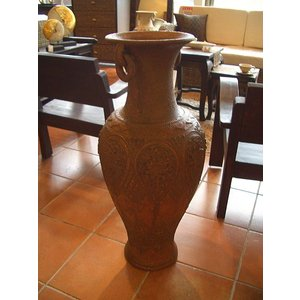 アジアンインテリア アジアンオブジェ  【タイ ・ ジャー(壺) H80】陶器 焼き物 花器 花瓶|store-monsoon