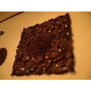 木彫りレリーフ 木製レリーフ 木製パネル 彫刻 オブジェ デコレーション アジアン雑貨|store-monsoon