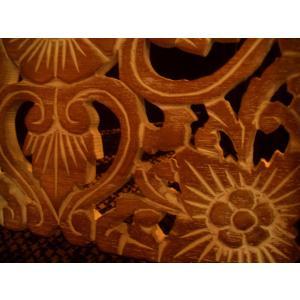 アジアン雑貨 木彫りレリーフ 【ウッドカーヴィン スクエアー 】アジアンレリーフ 木製レリーフ 壁飾り|store-monsoon|02