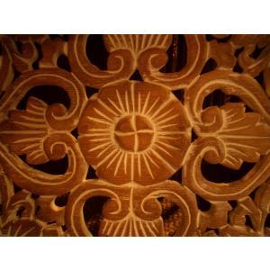 アジアン雑貨 木彫りレリーフ 【ウッドカーヴィン スクエアー 】アジアンレリーフ 木製レリーフ 壁飾り|store-monsoon|03