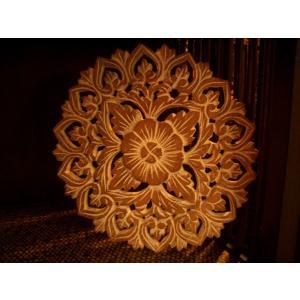 アジアン雑貨 木彫りレリーフ 【ウッドカーヴィン  】アジアンレリーフ 木製レリーフ 壁飾り|store-monsoon