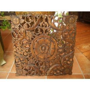 木彫りレリーフ 木製レリーフ 木製パネル 彫刻 オブジェ デコレーション アジアン雑貨 store-monsoon 02