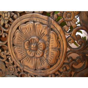 木彫りレリーフ 木製レリーフ 木製パネル 彫刻 オブジェ デコレーション アジアン雑貨|store-monsoon|03