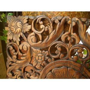 木彫りレリーフ 木製レリーフ 木製パネル 彫刻 オブジェ デコレーション アジアン雑貨|store-monsoon|04