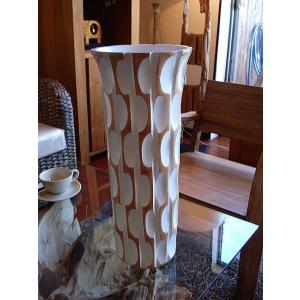 アジアン花瓶 アジアンオブジェ  【マンゴーウッドベース H43 】 フラワーベース 木製花瓶 花器 オブジェ|store-monsoon