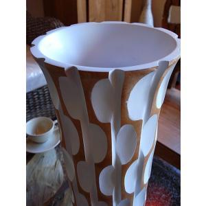 アジアンオブジェ  マンゴーウッドベース H43 フラワーベース 木製花瓶 花器 オブジェ|store-monsoon|02