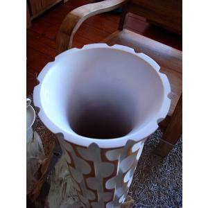 アジアンオブジェ  マンゴーウッドベース H43 フラワーベース 木製花瓶 花器 オブジェ|store-monsoon|04