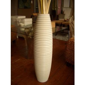アジアン花瓶 アジアンオブジェ  【マンゴーウッドベース H76】 フラワーベース 木製花瓶 花器 オブジェ モダン|store-monsoon