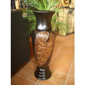 アジアンオブジェ  マンゴーウッドベース H77 フラワーベース 木製花瓶 花器 オブジェ モダン|store-monsoon|02