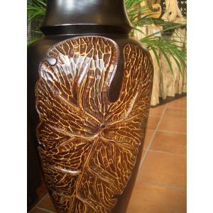 アジアンオブジェ  マンゴーウッドベース H77 フラワーベース 木製花瓶 花器 オブジェ モダン|store-monsoon|03
