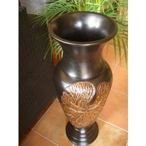 アジアンオブジェ  マンゴーウッドベース H77 フラワーベース 木製花瓶 花器 オブジェ モダン|store-monsoon|04