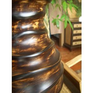 アジアンオブジェ   マンゴーウッドベース H36 フラワーベース 木製花瓶 花器 ツボ オブジェ モダン store-monsoon 02