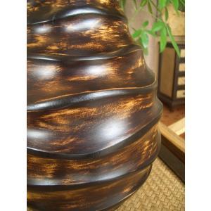 アジアンオブジェ   マンゴーウッドベース H36 フラワーベース 木製花瓶 花器 ツボ オブジェ モダン store-monsoon 03