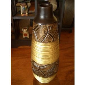 アジアン花瓶 アジアンオブジェ  【マンゴーウッドベース H43】 フラワーベース 木製花瓶 花器 オブジェ モダン|store-monsoon