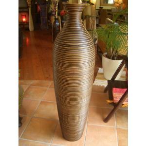 アジアンオブジェ  マンゴーウッドベース H115 フラワーベース 木製花瓶 花器 オブジェ モダン|store-monsoon