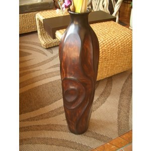 木製花器 木製花瓶 マンゴーウッド花器 オブジェ アジアンインテリア  フラワーベース|store-monsoon|02