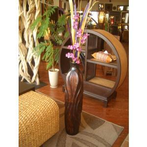 木製花器 木製花瓶 マンゴーウッド花器 オブジェ アジアンインテリア  フラワーベース|store-monsoon|03