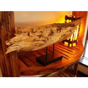 古木オブジェ(W84) タイオブジェ 置物 アジアンインテリア 木製 アンティーク オールドウッド  |store-monsoon