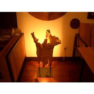 アジアン照明 アジアンランプ 古木オブジェ ライト インテリア 古木照明  チーク  間接照明 フロアライト(H80)|store-monsoon