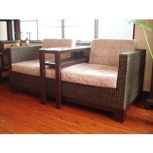 アジアンインテリア アジアン家具 バリ島 ◆ラタン・キャビネットソファー◆|store-monsoon