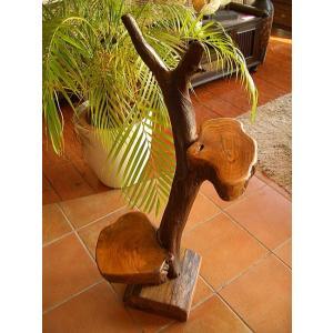 アジアンインテリア チーク ハンドメイド2段飾り台(B) 花台 天然木オブジェ アジアン家具 木製 |store-monsoon