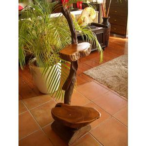 アジアンインテリア チーク ハンドメイド2段飾り台(C) 花台 天然木オブジェ アジアン家具 木製 |store-monsoon