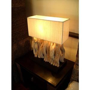 アジアン照明 アジアンランプ アジアンライト インテリア 古木 チーク  【チーク古木スタンドランプ スクエアA】照明 テーブルスタンドライト テーブルランプ|store-monsoon