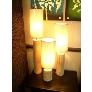 アジアンインテリア 照明 テーブルランプ  【チーク古木スタンドランプ L80cm】 ライト|store-monsoon