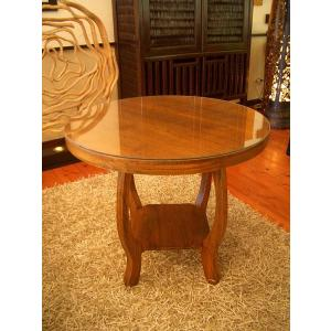カフェテーブル カフェ テーブル コーヒーテーブル アジアン家具 木製 ◆チーク 丸型 テーブル70◆円形テーブル store-monsoon