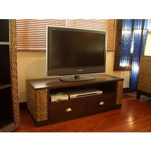 送料無料! アジアン家具 テレビボード アジアンインテリア ◆ウォーターヒヤシンス TVボード W115◆ 棚|store-monsoon