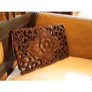 アジアン雑貨 木彫りレリーフ 【ウッドカーヴィン 20×30 】アジアンレリーフ 木製レリーフ 壁飾り|store-monsoon